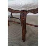 Image of Custom French Louis XV Walnut Window Bench