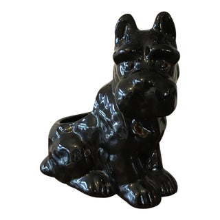 Vintage Black Scottie Dog Planter