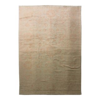 Hand Knotted Oushak Rug - 14' X 9'6""