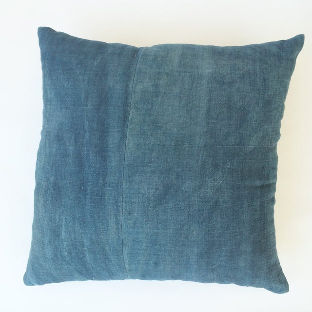 Hand Woven Blue-Indigo Hemp Pillow - Image 2 of 3