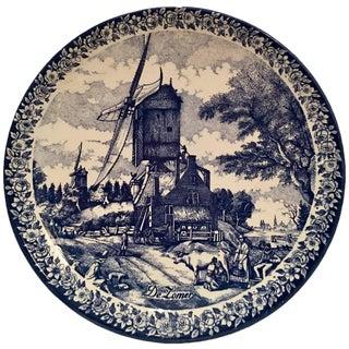"Vintage Delfts Blauw Hanging Platter By Chemkefa-""De Zomer"""