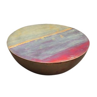 Gump's Copper Kettledrum Coffee Table