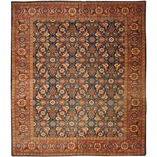 Antique 19 Century Persian Tabriz Carpet