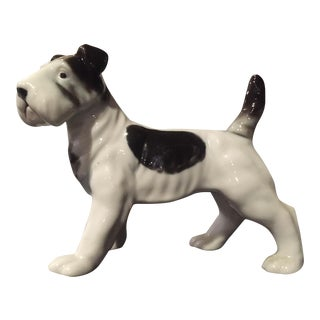 Vintage Black & White Terrier Figurine