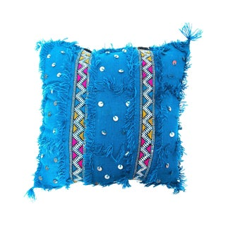 Turquoise Moroccan Wedding Pillow