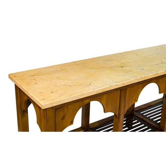 Sarreid LTD Railroad Trestle Table - Image 3 of 5