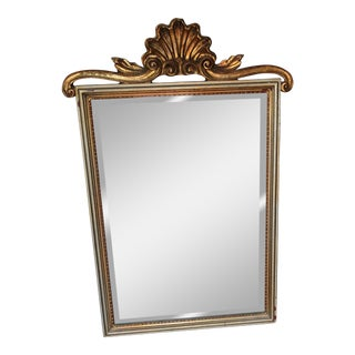 Large Gilded Shell Syroco Mirror