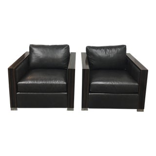 Bernhard Soft Leather Chairs - a Pair