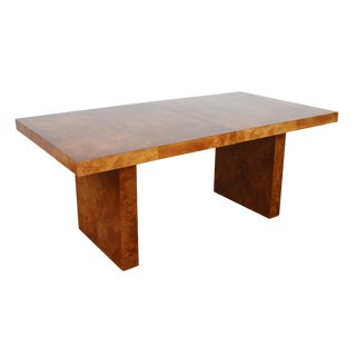 Mid-Century Patchwork Burl Wood Dining Table
