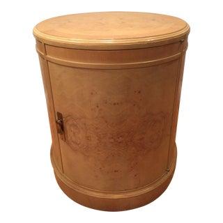 Vintage Henredon Style Burl Wood Drum Table