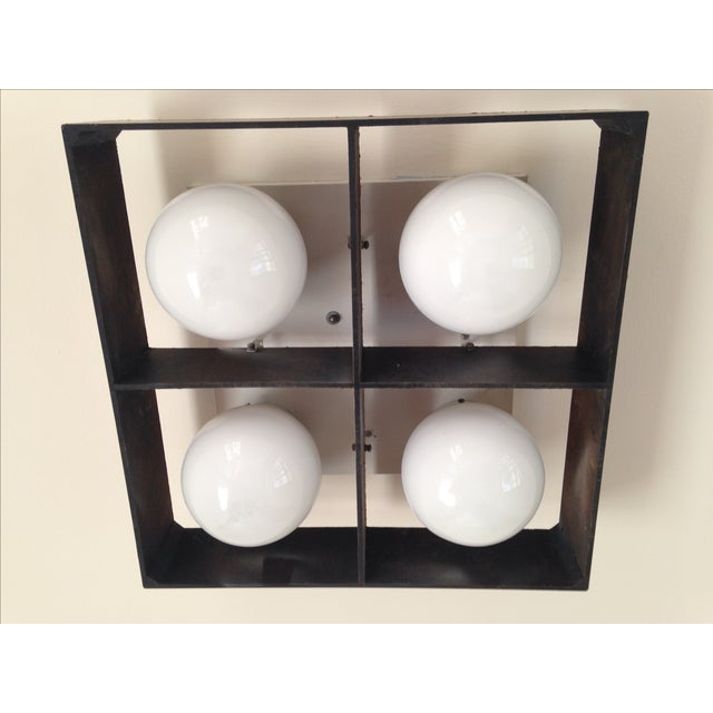 Mid-Century Orb Four-Light Ceiling Fixture - Image 6 of 10
