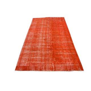 Bohemian Turkish Oushak Orange Floor Carpet - 4′9″ × 8′6″