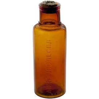 Vintage French Amber Glass Bottle