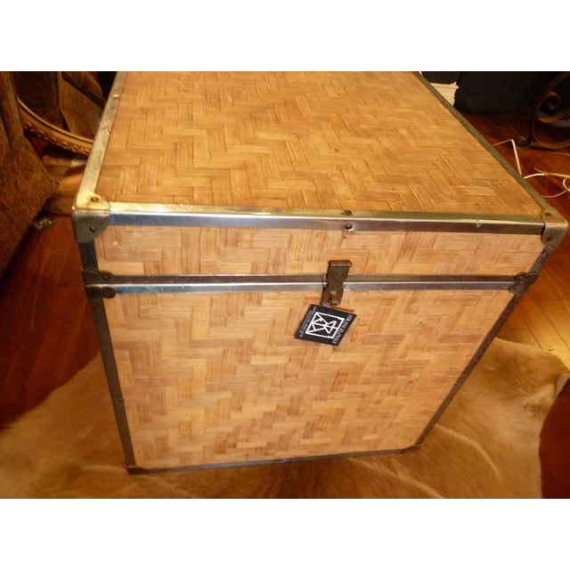 Woven Wood Storage Trunk - Image 6 of 10