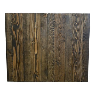 Twin Hanger Barn Walls Headboard in an Ebony Stain