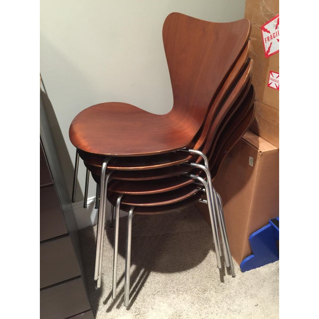 Fritz Hansen Series 7 Dining Chairs- Set of 6 - Image 7 of 10