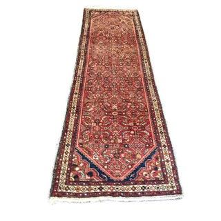 """Vintage Hamadan Wool Runner - 3' x 10'2"""""""