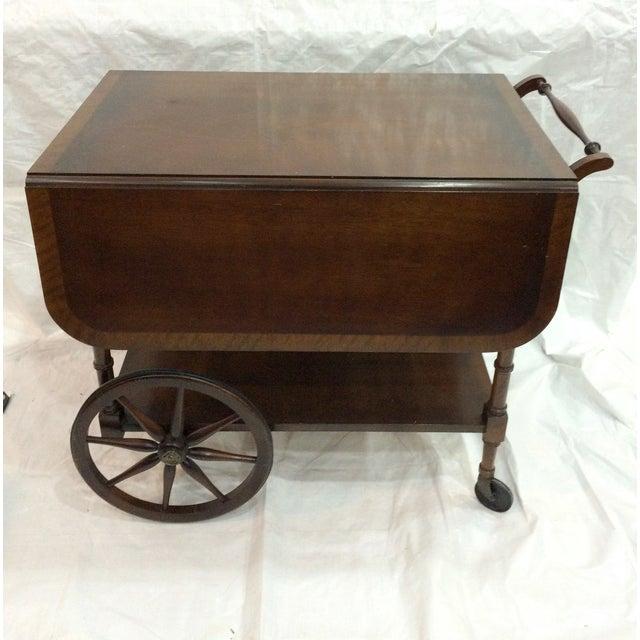 Walter of Wabash Drop-Leaf Bar Cart - Image 4 of 10