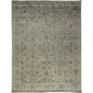 """Vibrance, Hand Knotted Gray Wool Area Rug - 7' 10"""" X 10' 1"""""""