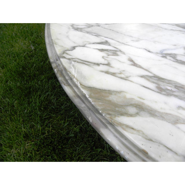 Vintage Mid-Century White Marble Coffee Table - Image 7 of 8