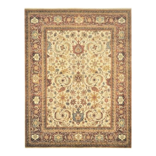 Persian Heriz Serapi Hand Knotted Area Rug - 7′9″ × 10′
