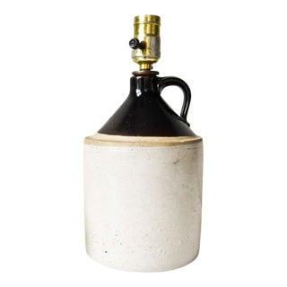 Vintage Stoneware Jug Lamp