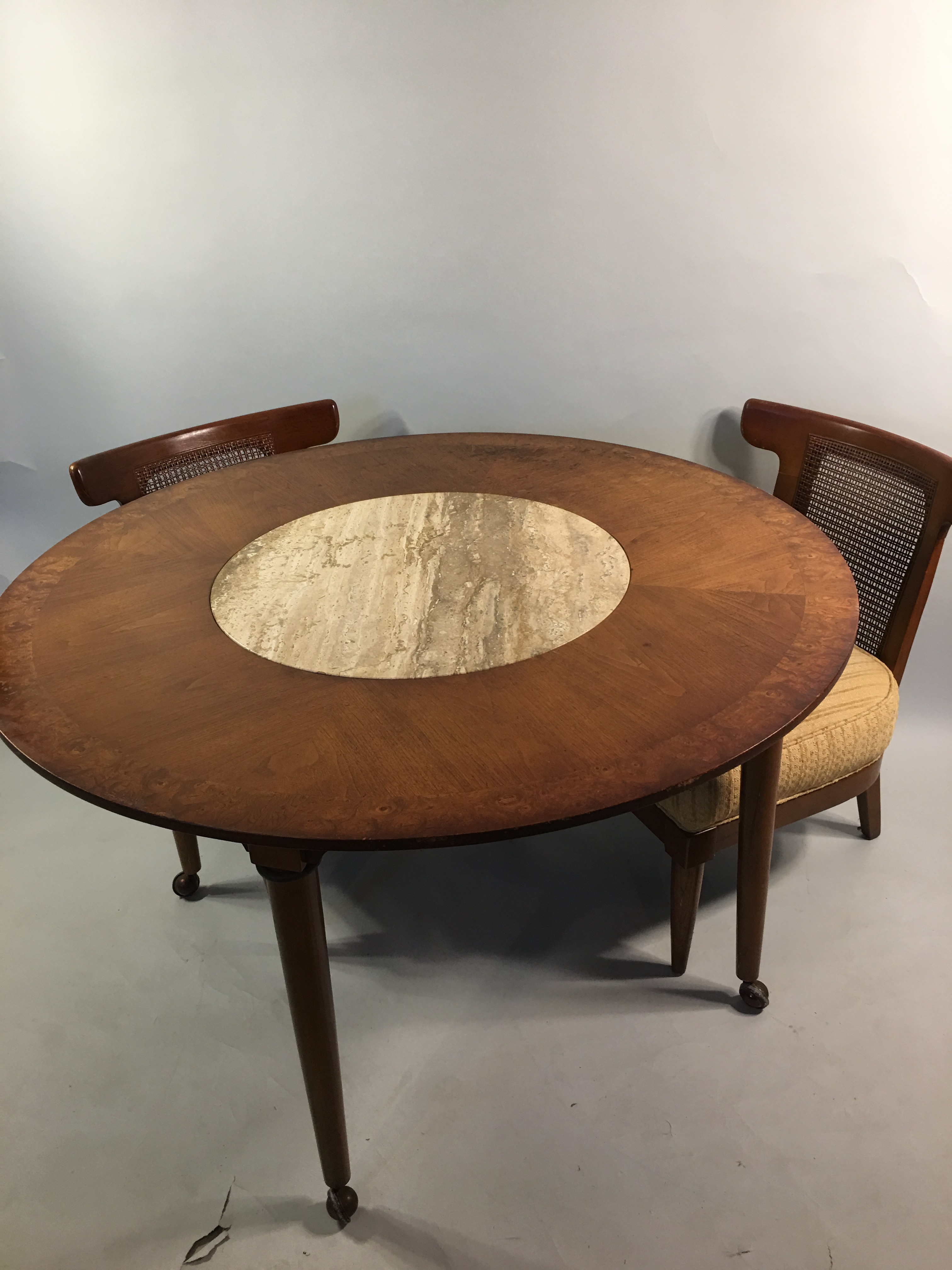 Mid Century Round Marble Insert Dining Table amp Chairs  : 8f9164e6 b1de 47c5 ac18 3aa0b4a6c0bfaspectfitampwidth640ampheight640 from www.chairish.com size 640 x 640 jpeg 29kB