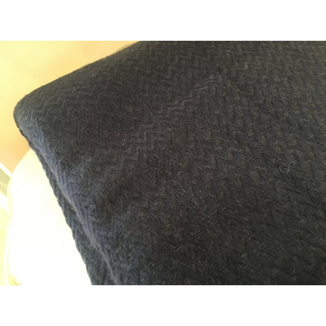 Extra Large Navy Cashmere Throw - Image 3 of 6