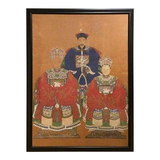 Asian Watercolor of Chinese Ancestors