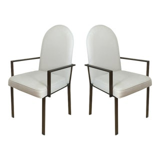 Mid-Century Metal Armchairs - A Pair