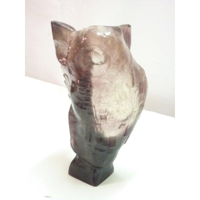 Daum Glass Owl - Image 6 of 6