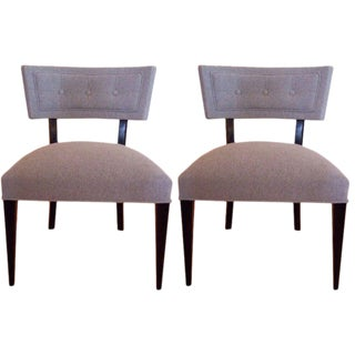 Pair of Mid Century Slipper Chairs