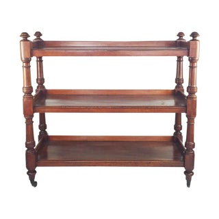 19th-Century English Mahogany Three-Tiered Server