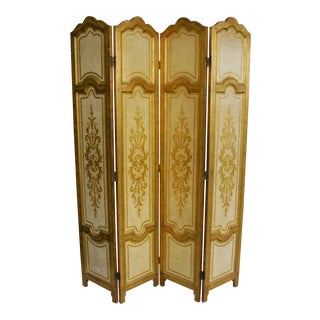 1950s Venetian Hollywood Regency Gilt Panel Room Divider