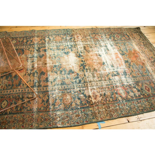 "Distressed Hamadan Carpet - 5'3"" x 7'11"" - Image 8 of 10"
