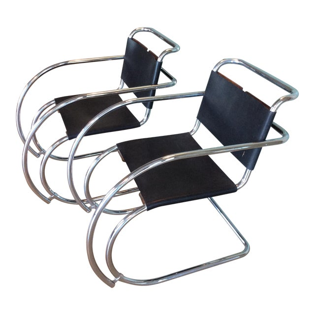 Mies Van Der Rohe Mr20 Cantilever Chairs- a Pair - Image 1 of 8