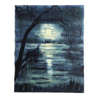 Vintage Oil Painting of Swamp