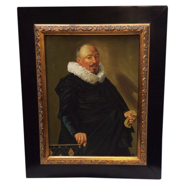 Image of Renaissance Painting With Wood Frame