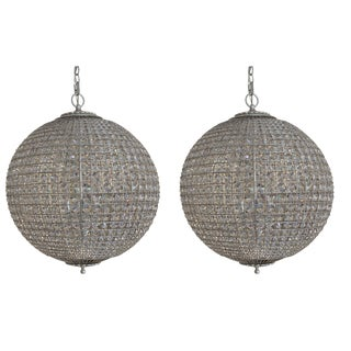 Aerin for Visual Comfort Crystal Renwick Pendants - A Pair
