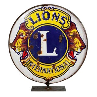 Lions Clubs International Sign on Stand