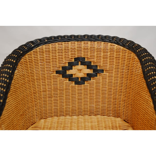 French Grange Style Rattan Club Chairs - A Pair - Image 4 of 7