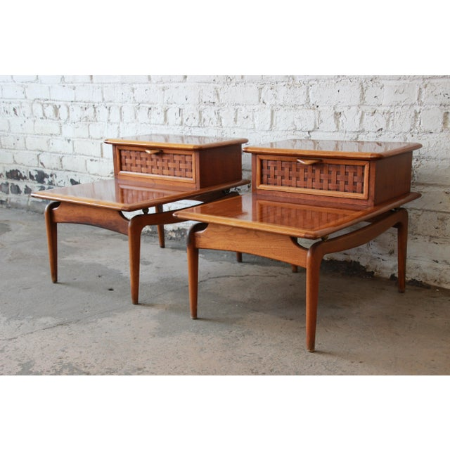 Mid-Century Lane Step End Tables - a Pair - Image 2 of 10