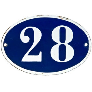 French Oval House Number 28