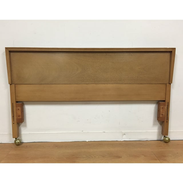 Bleached Mahogany Full Headboard - Image 2 of 5