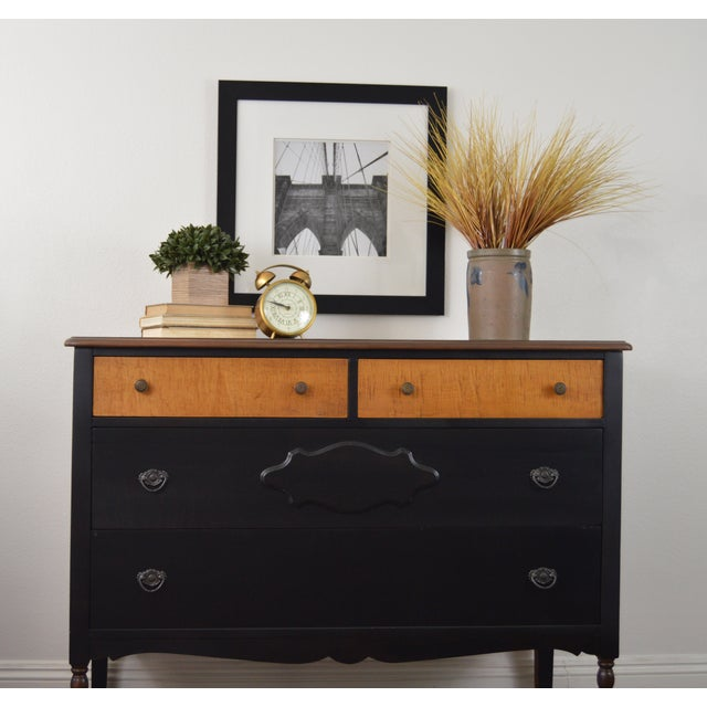 Repurposed Antique Black Dresser - Image 4 of 6