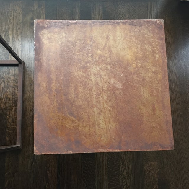 Industrial Frame Square Side Tables - Pair - Image 7 of 7