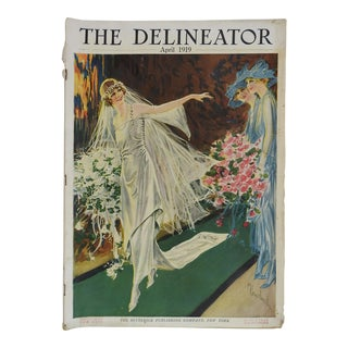 Antique 1919 Delineator Wedding Fashion