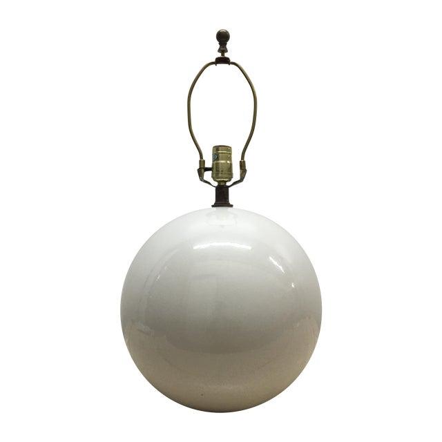 Globe Lamp in the Manner of Karl Springer - Image 1 of 3