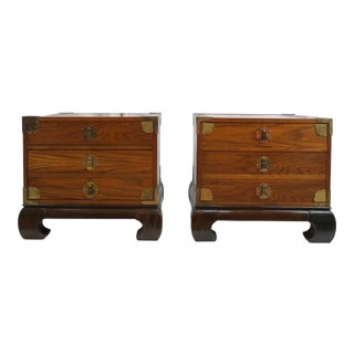 Bassett Asian Style Night Stands - A Pair