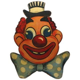 Vintage Big County Fair Clown Wall Art Sign